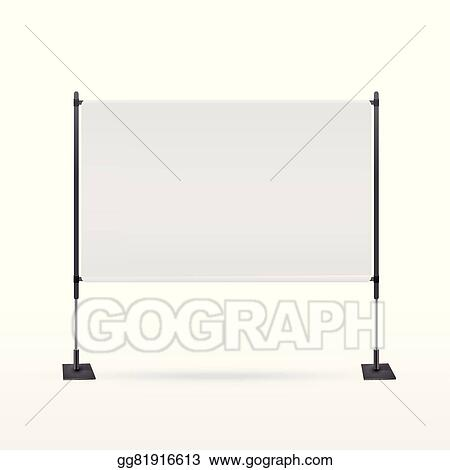 Vector Stock Blank Projector Screen Clipart Illustration