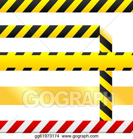 vector art blank seamless caution tape vector eps clipart rh gograph com caution tape border clip art