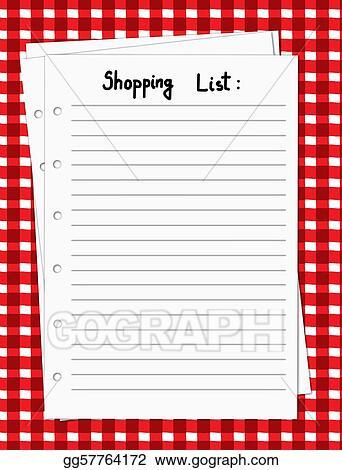 Vector Stock Blank Shopping List Stock Clip Art