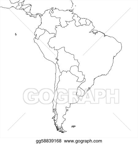 Stock Illustration - Blank south america map. Clipart ...