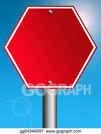 Drawing - Blank stop signal  Clipart Drawing gg54346297 - GoGraph