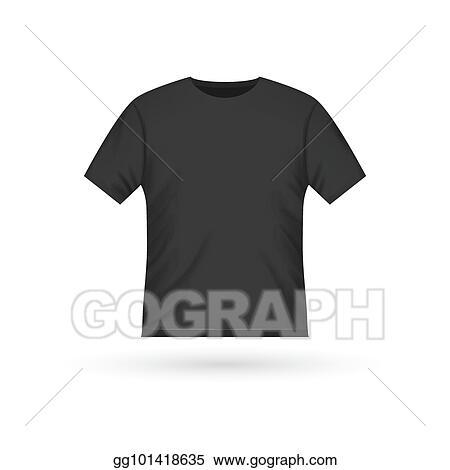vector stock blank t shirt template clothing fashion white shirt