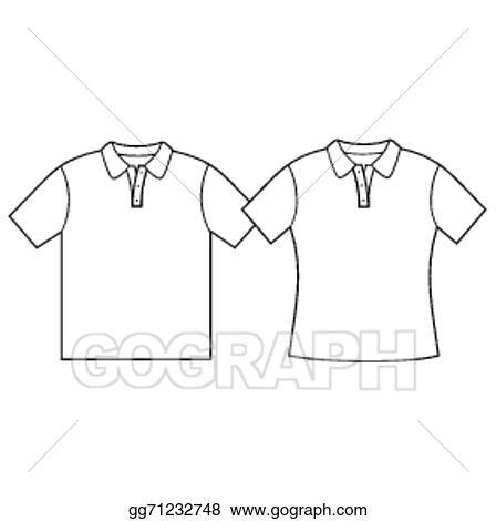 Vector Stock - Blank t-shirt template. . Clipart Illustration ...