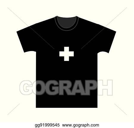Eps Illustration Blank T Shirt Template Vector Clipart Gg91999545