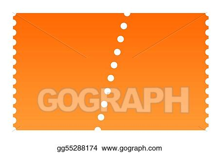 clip art blank ticket stock illustration gg55288174 gograph