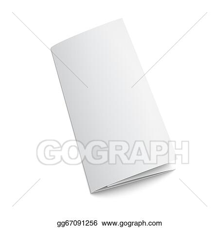 vector stock blank trifold paper brochure stock clip art
