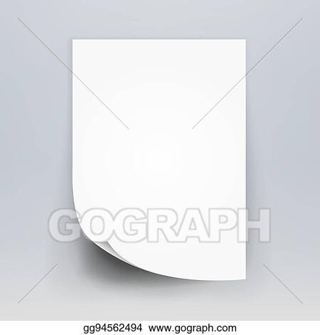 Vector Art Blank White 3d Paper Canvas Vector White Blank