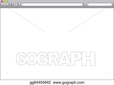 drawings blank window of internet browser template illustration