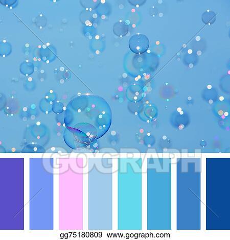 Dessins Bleu Bulle Palette Gg75180809 Illustration De Banque D