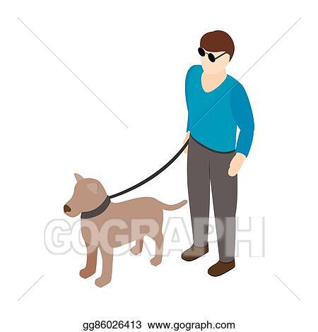 Cartoon Blind Man Stock-Vektorgrafik (Lizenzfrei) 141674461