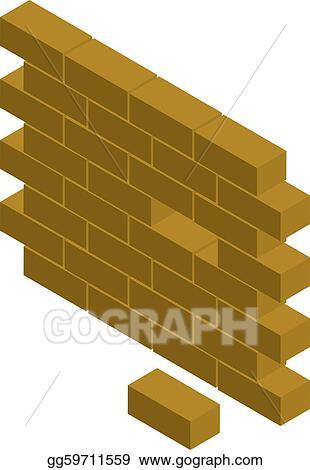 Vector Art - block wall. EPS clipart gg59711559 - GoGraph
