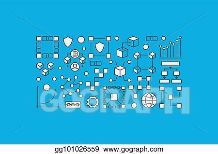 Vector Clipart Blockchain Creative Banner Or Illustration