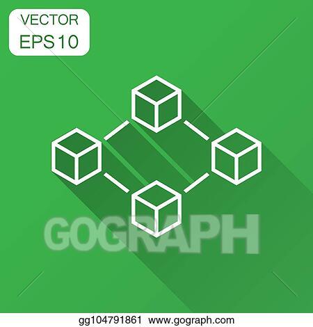 Vector Illustration - Blockchain technology vector icon in