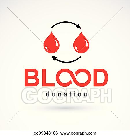 Vector Art Blood Donation Vector Symbol Created With Red Blood