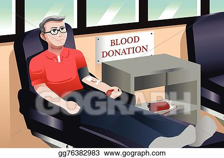 Vector Art Blood Donation Clipart Drawing Gg76382983 Gograph