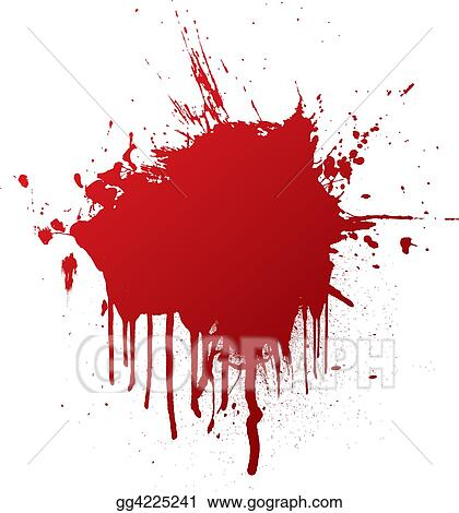 stock illustration blood splat clipart drawing gg4225241 gograph rh gograph com Paintball Splatter Clip Art blood splatter clipart