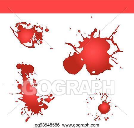 Vector Art - Blood splatter vector  paint splash  Clipart Drawing