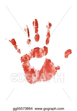 Drawing Bloody Handprint Clipart Drawing Gg55573664 Gograph