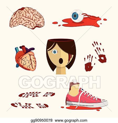 Vector illustration bloody organ and human body parts in halloween bloody organ and human body parts in halloween style ccuart Image collections