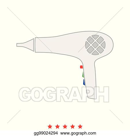 Vector Art Blow Dryer Hair Dryer It Is Icon Clipart Drawing Gg99024294 Gograph