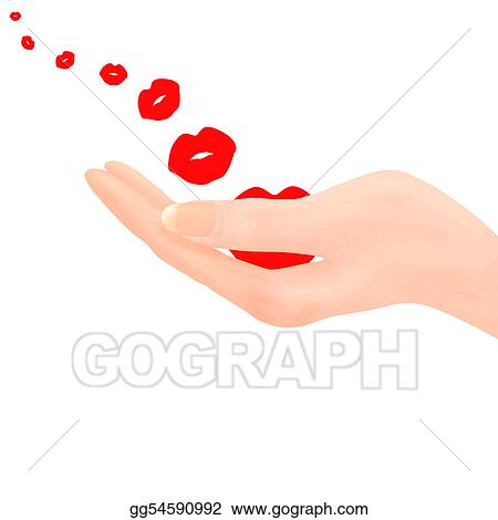 Clip Art Blowing Kisses From Hand Stock Illustration Gg54590992