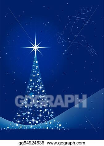 Christmas Background Christian.Clip Art Vector Blue Abstract Christmas Background With