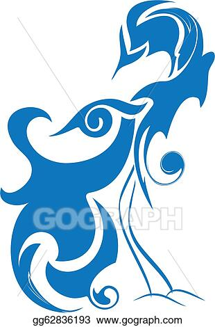 Stock Illustration Blue Bird Of Happiness Birds Of