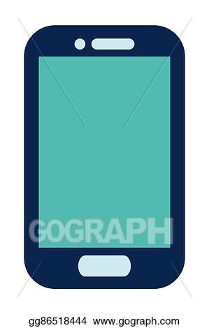 Cell Phone Icon >> Vector Illustration Blue Cellphone Icon Stock Clip Art Gg86518444