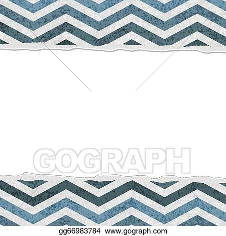 stock illustration blue chevron torn background for your message