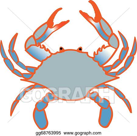 vector art blue crab clipart drawing gg68763995 gograph rh gograph com blue crab clipart free blue crab clip art free