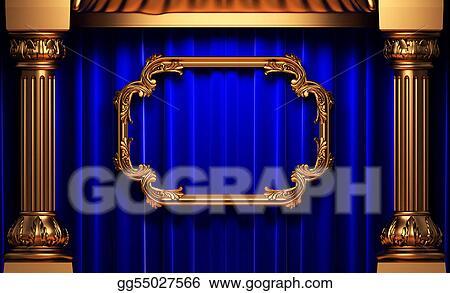 ff9bcc29d093 Clip Art - Blue curtains