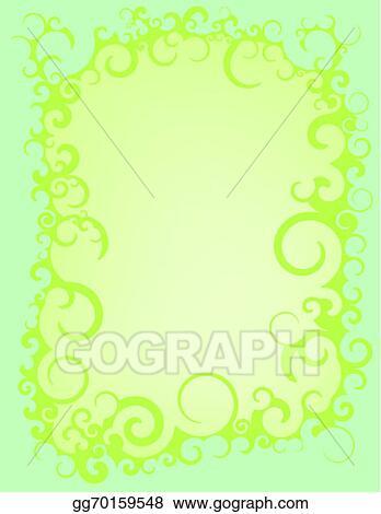 Vector stock blue green swirl border stock clip art gg70159548 blue green swirl border altavistaventures Images