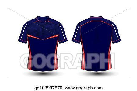 e5163bc9 Blue, red and white layout football sport t-shirt, kits, jersey, shirt  design template