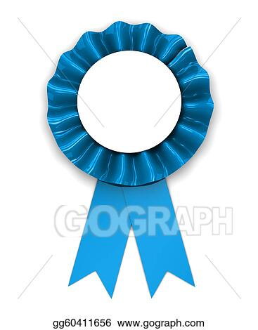 drawing blue ribbon clipart drawing gg60411656 gograph rh gograph com blue cancer ribbon clip art blue ribbon clip art black and white
