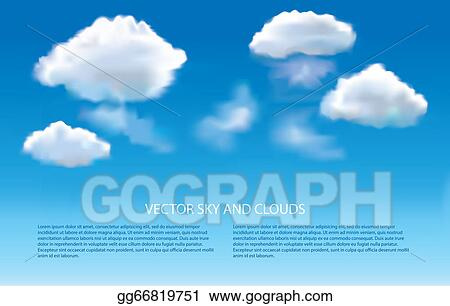 EPS Illustration - Blue sky and clouds vector background