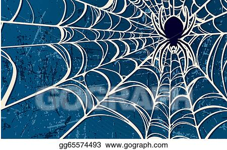 Spider web blue. Vector stock background clipart
