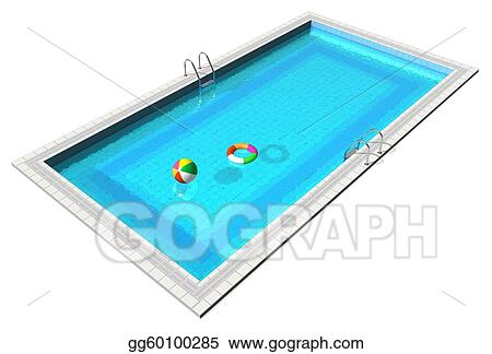 Stock Illustration - Blue swimming pool. Clipart Drawing ...