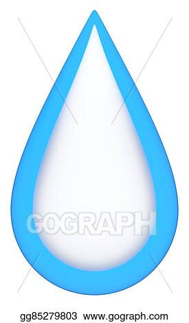stock illustration blue teardrop clipart drawing gg85279803 rh gograph com teardrop shapes clip art teardrop clip art images