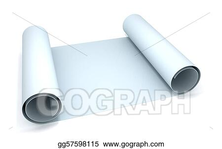 Stock illustration blueprint clipart drawing gg57598115 gograph stock illustration 3d rendering of a blueprint paper roll clipart drawing gg57598115 malvernweather Gallery