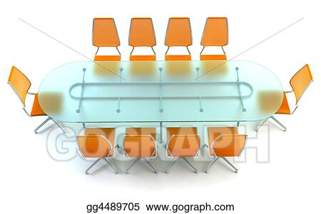 stock illustration boardroom with table and chairs clipart rh gograph com furniture clip art free furniture clipart pinterest