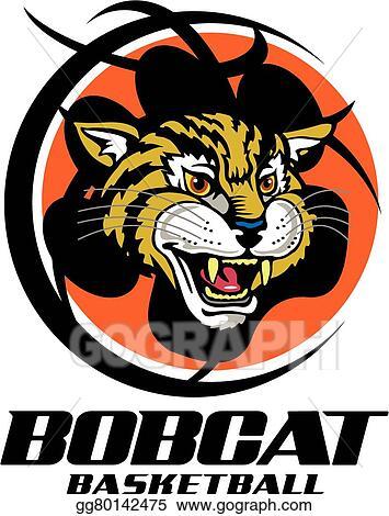 Eps Illustration Bobcat Basketball Vector Clipart Gg80142475