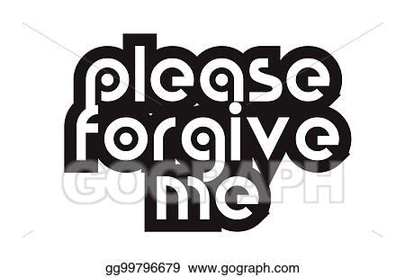 Forgive Me Clip Art