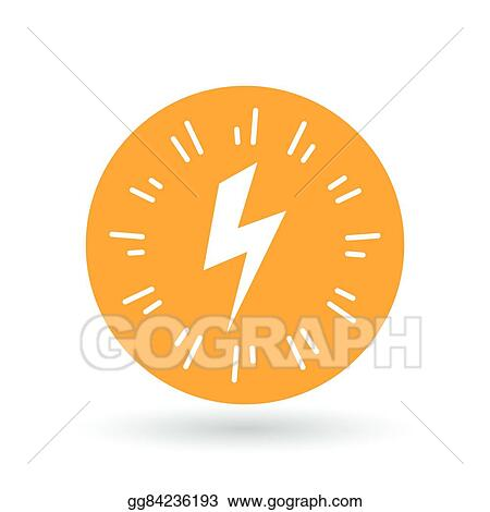 Vector Stock - Bolt flash icon  electricity charge sign