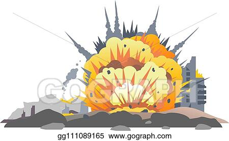 eps illustration bomb explosion on ground vector clipart gg111089165 gograph https www gograph com clipart license summary gg111089165
