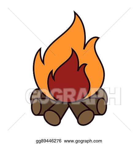 clip art vector bonfire flammes icon vector illustration design rh gograph com bonfire clip art free bonfire clipart images