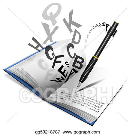Stock Illustration Book Or Notebook And Pencil Clipart Gg59218787