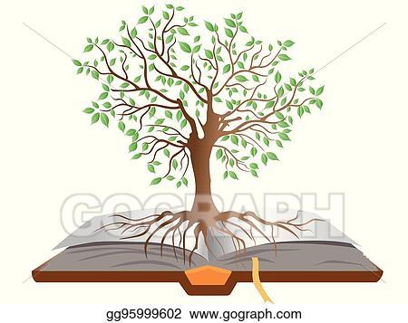 Diversity education book tree Clipart Image