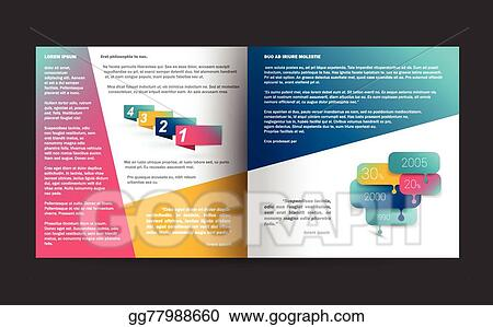 vector illustration booklet page magazine layout for infographics