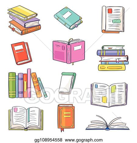 Vector Stock - Books vector opened diary story-book and