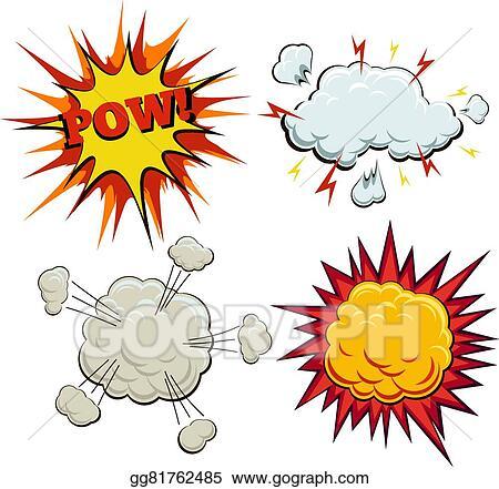 Clip Art Vector - Boom, explosion and pow set. Stock EPS gg81762485 ...
